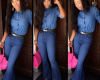 Toke Makinwa gets it right as she steps out in denim-on-denim