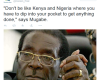 Robert Mugabe comes for #Nigeria and #Kenya