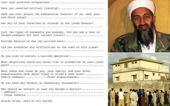 Do you wish to carry out a suicide mission. Who should we contact in case you become a martyr? al Qaeda job application forms revealed in trove of intelligence documents