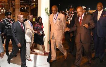 Photo: SA president Jacob Zuma in Nigeria for inauguration