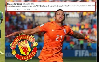 Manchester United reach agreement to sign Memphis Depay in £25million transfer after beating PSG to winger at last minute