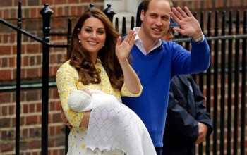 Prince William, Kate emerge from hospital with baby girl