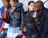 Kim Kardashia's sheer outfit catches fire