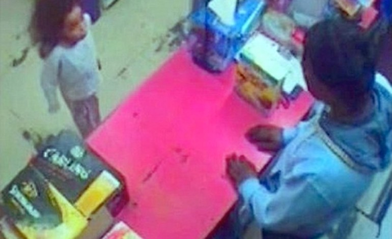 Shocking last photographs of 7yr old Shanay , running shoeless to a shop searching for water – hours before she was killed by her auntie