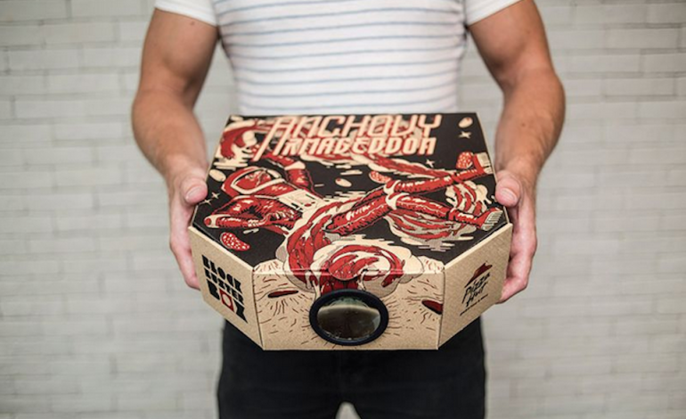 This Pizza Hut box transforms into a motion picture and film projector