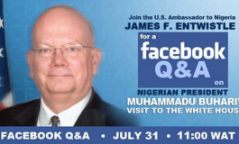 US Amb. to Nigeria holds Q&A with Nigerians on Facebook, evasive about $6bn stolen funds
