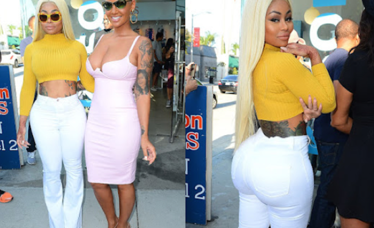 Amber Rose & Blac Chyna arrive in sexy outfits to LA launch