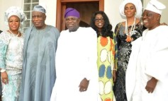 Photos: Ambode and wife , Shade Okoya and husband attend Ojude Oba Epe celebration