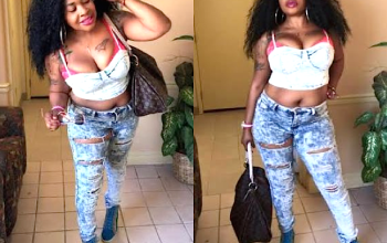 Afrocandy flaunts body and pubic hair on social media