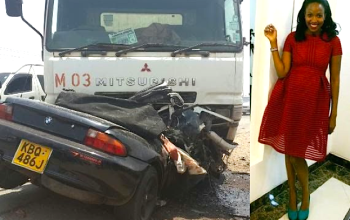 Photos: Popular Kenyan actress dies in auto crash...few days after writing about death on FB