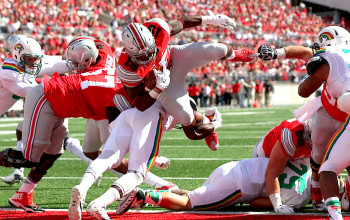 Ohio State football fights through offensive struggles in 38-0 win over Hawaii