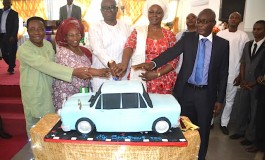 SO HILARIOUS!!! See What Ekiti State Gov. Ayo Fayose Used As His Birthday Cake (SEE PHOTOS)