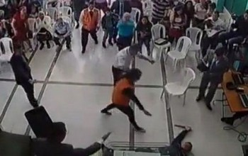 Man Tries To Stab Pastor Inside Church, Gets Overcome By Spirit and Falls Down