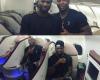 Peter Okoye Shares Pics With Yakubu Aiyegbeni On A Flight