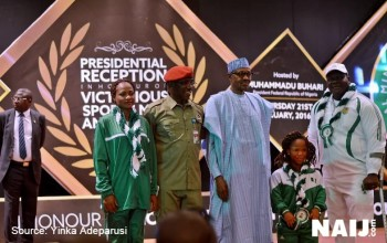 EXCLUSIVE: How Buhari Rewarded Victorious Sportsmen and Women In Abuja (PHOTOS/VIDEO)