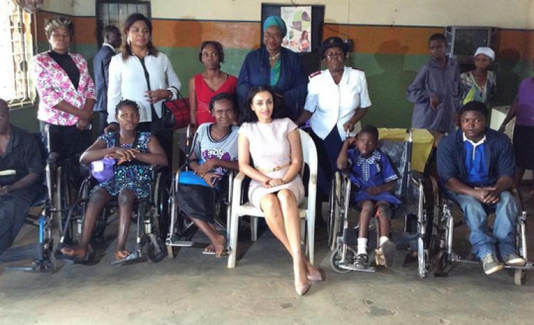 Photos: Iara Oshiomhole visits orphanage in Edo state
