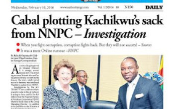 The Authority Newspapers Today February 10th, 2016.
