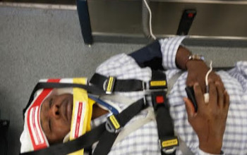 Former Naija FM Sports Presenter survives ghastly motor accident in Houston Texas
