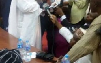 Photos of new PDP Chairman, Ali Modu Sheriff, taking his oath of office