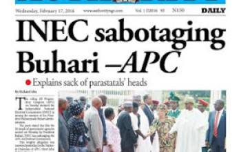 The Authority Newspapers Today February 17th, 2016