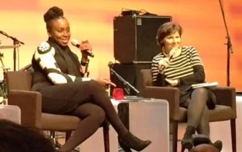 Photos: Chimamanda Adichie speaks at a photojournalism exhibit on women empowerment in Paris