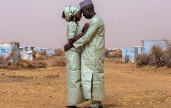 Awww...Couple Separated by Boko Haram Reunite and Wed At Refugee Camp