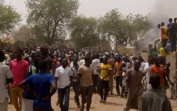 Photos From Bomb Blast at Police Headquarters In Adamawa