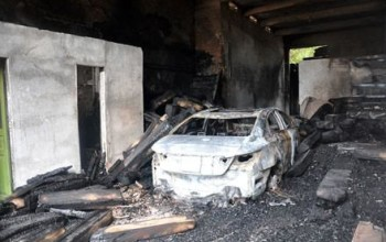 Photos: In an attempt to get rid of a rat that's been driving him crazy, man burns down his house