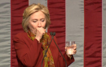Coughing Fit Invades Hillary Clinton Again During Campaign Stop (WATCH)