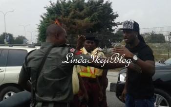 Paul Okoye seen arguing with policeman in traffic (photos)