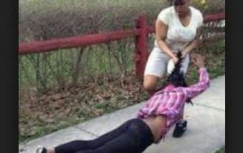 TWO WOMEN IN DEADLY FIGHT