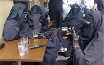 PHOTO: Muslim Ladies Seen Drinking & Smoking Openly