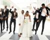 Photos from the wedding of music producer DJ Spellz & Dije Badaki