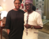 Julius Agwu meets novelist - Chimamanda Adichie at a cocktail party in Lagos