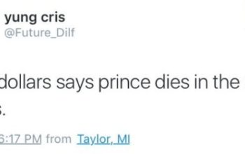 Someone else predicted Prince's death last week
