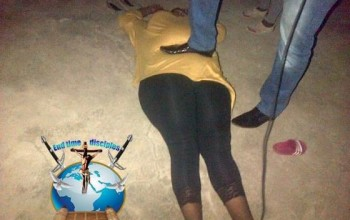 Photos: Controversial SA pastor steps on a woman's stomach during deliverance
