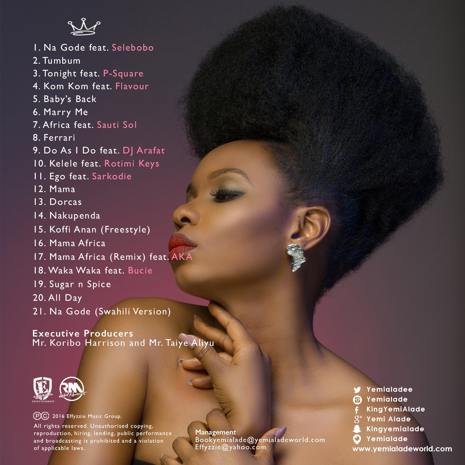 Yemi Alade - Mama Africa [Deluxe Album BackTracklist]