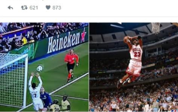 Twitter users come for Cristiano Ronaldo after his 'slam-dunk' basket-ball like goal last night