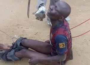 Man caught stealing - rough-handled & beaten up in Bayelsa (Photos)