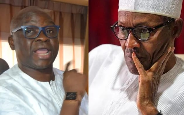 Buhari under HEAVY fire from Fayose again over economy