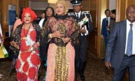 Aisha Buhari pictured with  Chief Amina Temitope Ajayi at Future Assured event in New York
