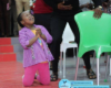 Wow! Little girl pictured down on her knees and in tears as she prays and worships God