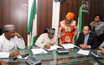 Minister of Transport, Rotimi Amaechi, signs MoU with Chinese company for construction of Lagos-Ibadan and Calabar Port Harcourt rail line