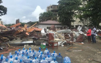 Photo: Owner of Bakery demolished at Rumens road, Ikoyi paid N5m in rent yesterday