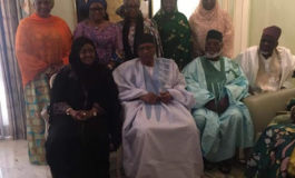 Photos: Aisha Buhari visits Minna to launch pet project, pays IBB courtesy visit