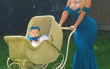 Coco Austin flaunts her curves as she poses with her daughter