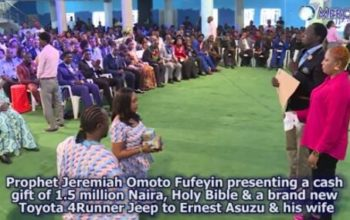 Struggling Nollywood Actor, Ernest Asuzu, Gets Jeep & N1.5m From Pastor Jeremiah