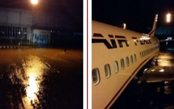 Everywhere Flooded At Enugu Airport Runway After Rainfall