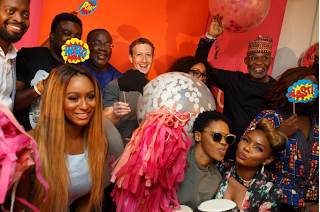 Mark Zuckerberg Parties With Nigerian Celebrities (Photos)