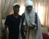 Photo of Emir of Kano with one of his sons